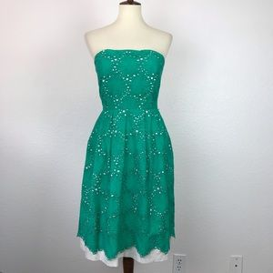 Donna Morgan Strapless Pockets Lined Dress